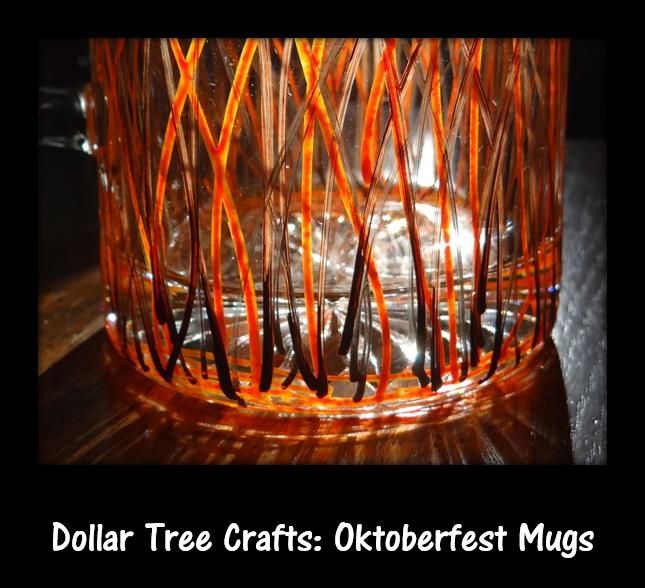 Dollar Tree Crafts: Paint Your Own Oktoberfest Beer Glass Tutorial #DIY