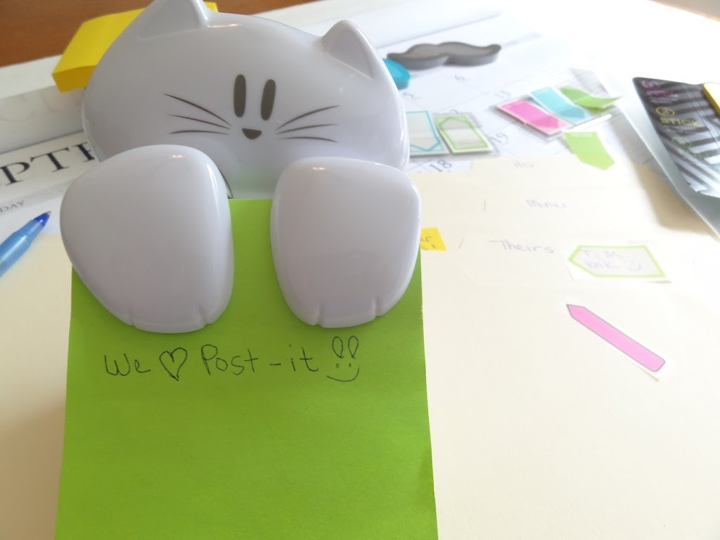 Post-It Brand Cat pop up dispenser