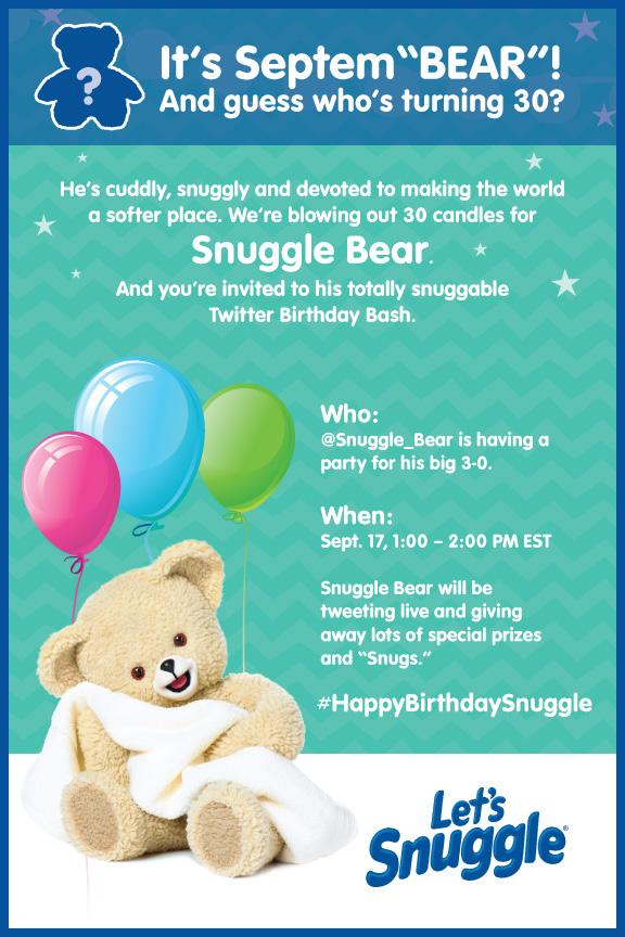 Snuggles Birthday bash invitation #HappyBirthdaySnuggle