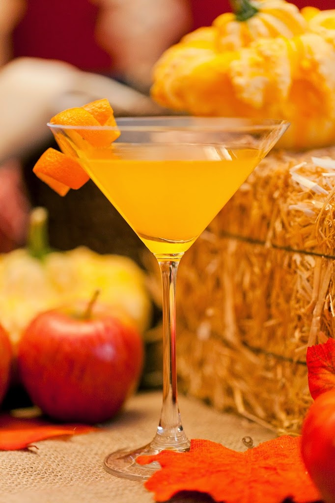 Orange Spiced Pumpkin Martini #Recipe