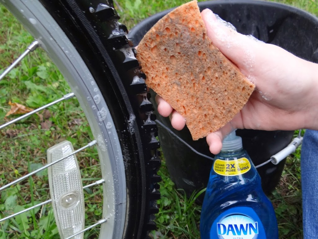 Our Must-Have Kitchen Helper Takes on Bicycle Tire Winterization #DawnBeyondTheSink