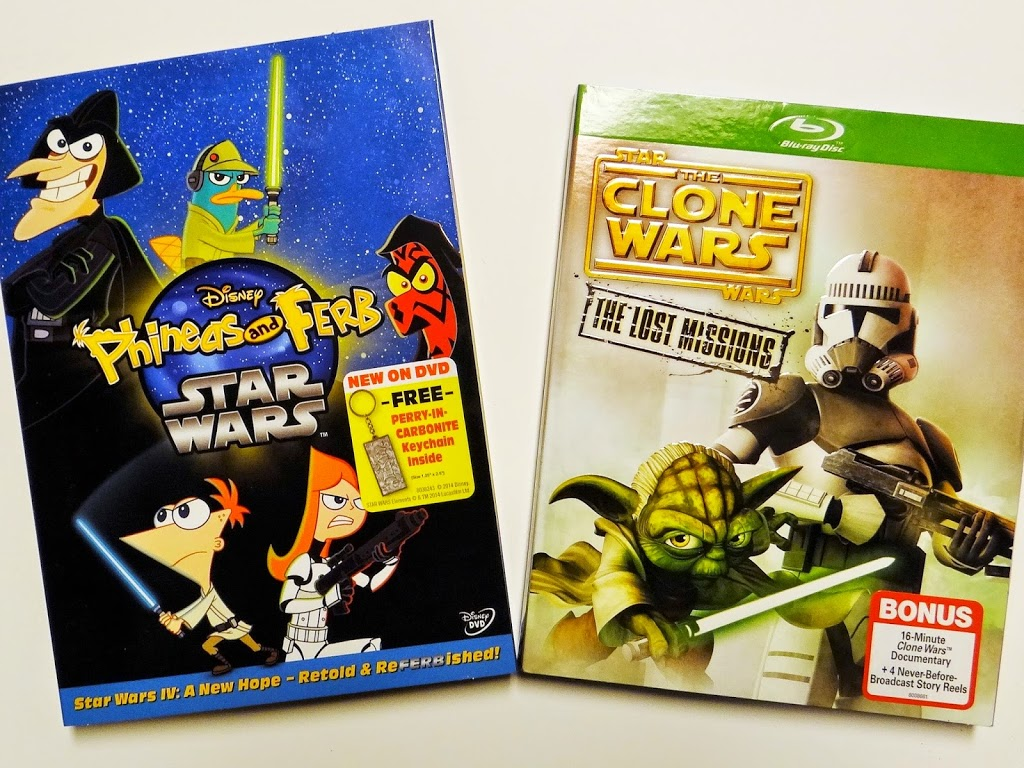 Keep Your Young Jedis Happy Through the Holidays with Star Wars The Clone Wars: The Lost Missions and Phineas and Ferb: Star Wars Out