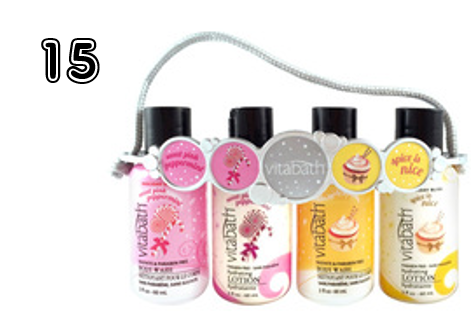 Vitabath Fragrance Collection Holiday Body Wash & Lotion Carrier - 15 Incredible Stocking Stuffer Ideas! | 2014 Rural Mom Holiday Gift Guide