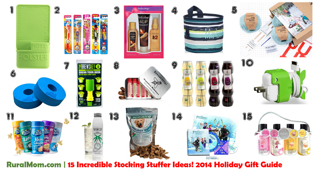15 Incredible Stocking Stuffer Ideas! | 2014 Rural Mom Holiday Gift Guide