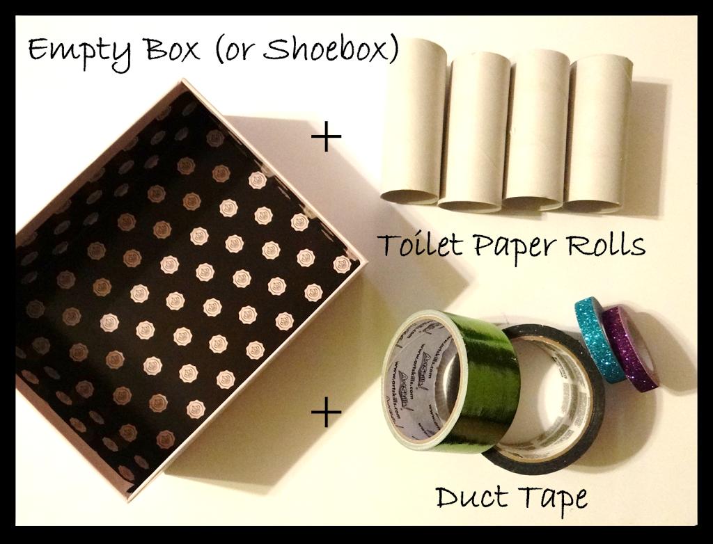 duct tape crafts diy art tray rural mom. Black Bedroom Furniture Sets. Home Design Ideas