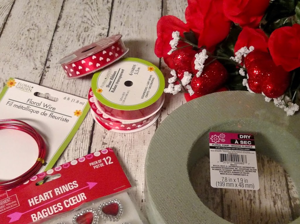 Dollar Tree Crafts: Quick and Easy Valentines Day Ribbon Wreath