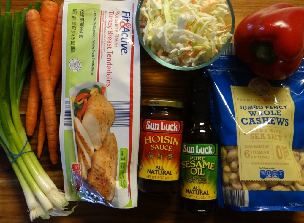 Ingredients for Asian Cashew Chicken Salad