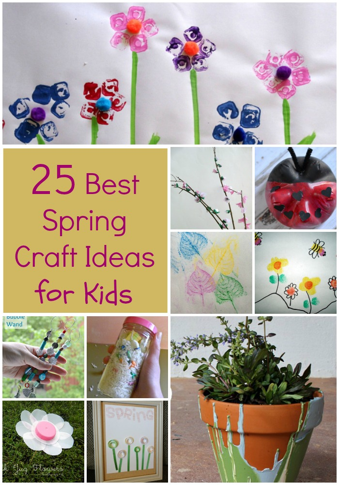 25 Best Spring Craft Ideas for kids text