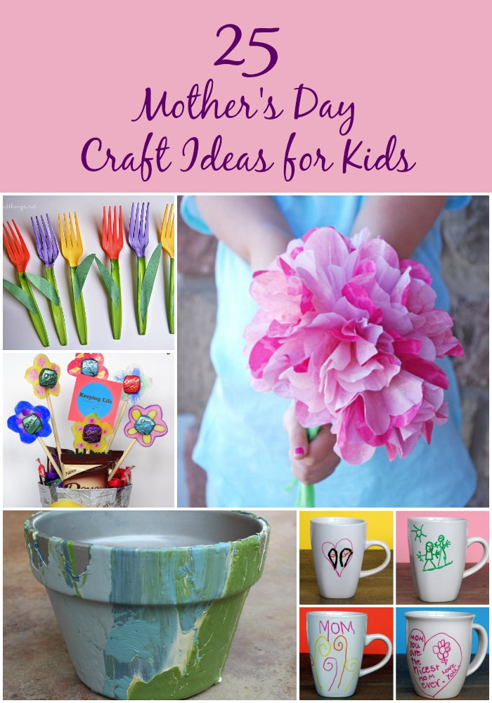 25 Lovely Mother's Day Craft Ideas for Kids