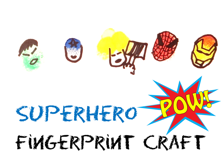 Superhero Fingerprint Craft