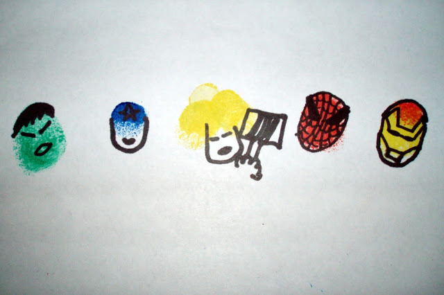 Superhero Fingerprint Craft | Inspiring Creative Play
