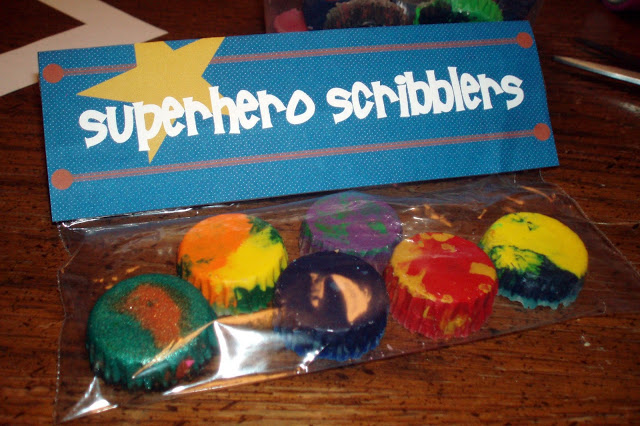 Superhero Scribblers Crayon Craft and Template