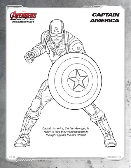 Avengers Age of Ultron Coloring Sheet