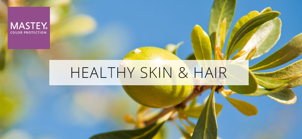healthy skin, hair, Argon,olive oil