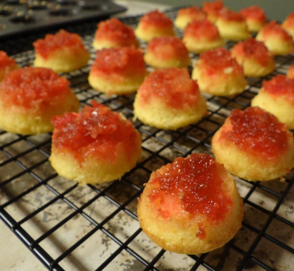 After School Snack Ideas | Cherry Pineapple Upside-Down Cake Bites