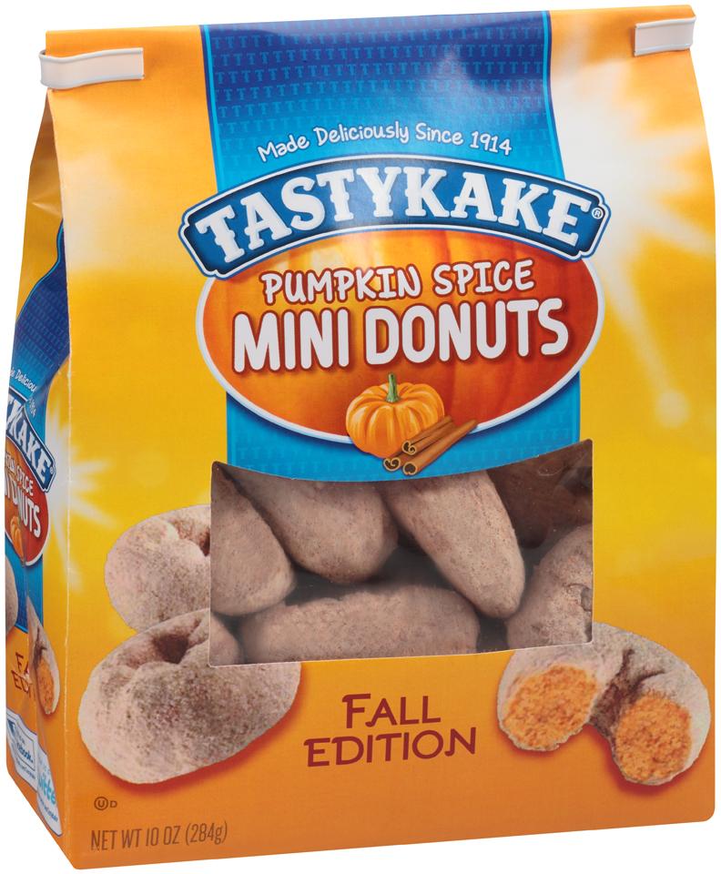 Tastykake Pumpkin Spice Mini Donuts