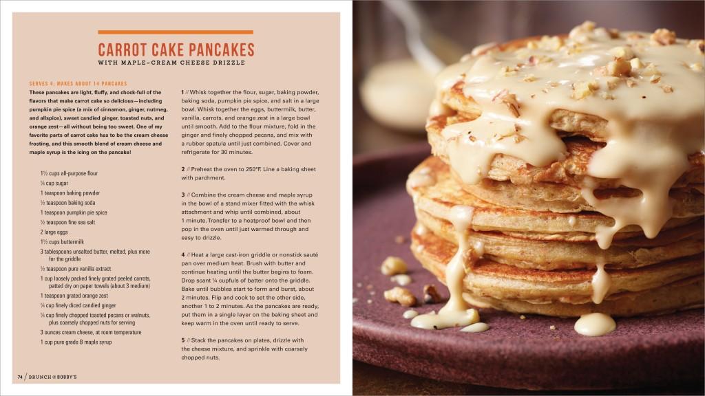Carrot Cake Pancakes - Brunch @ Bobby's - Bobby Flay