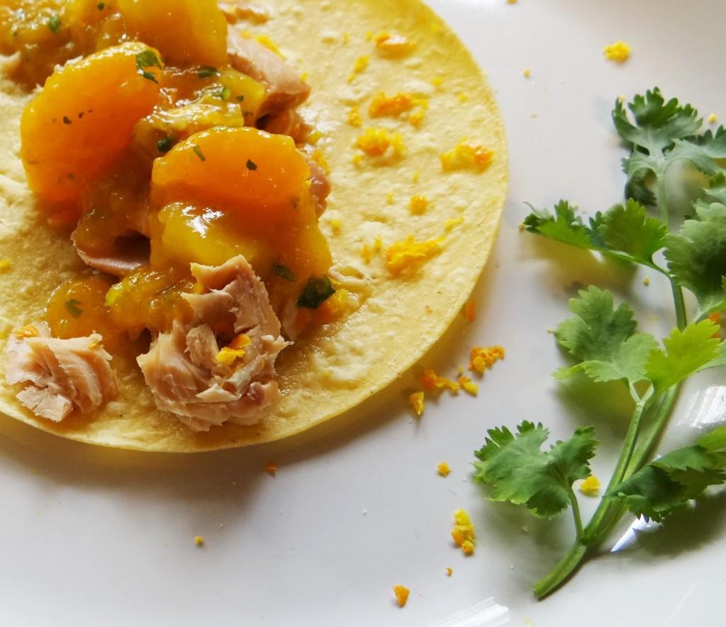 Smoked Salmon Tacos with Mango Orange Salsa #NationalSalmonDay