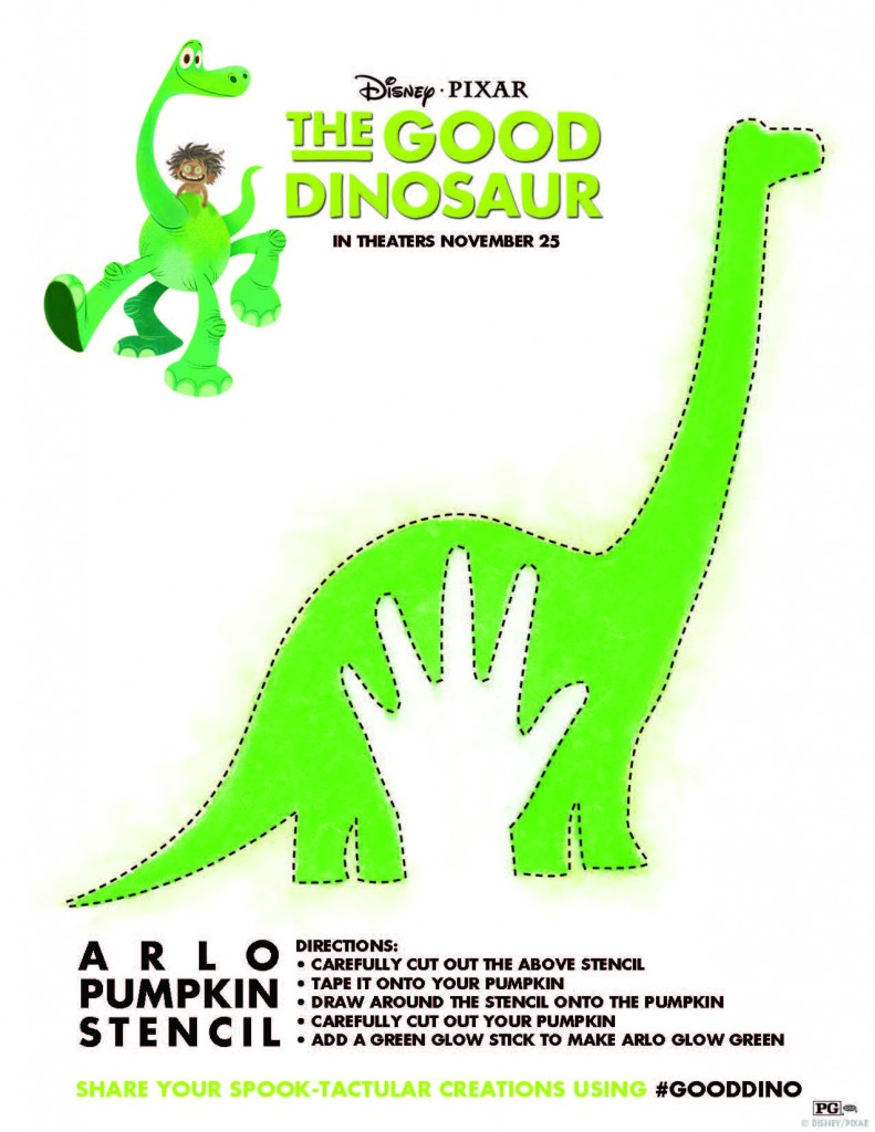 The Good Dinosaur Pumpkin Stencil, Coloring Sheets and ...
