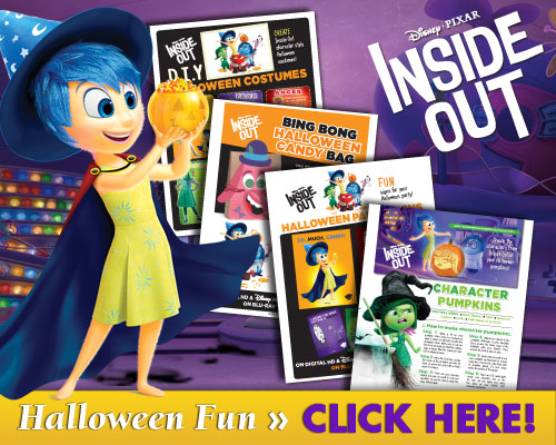 INSIDE OUT DIY Halloween Costumes, Pumpkin Templates, Party Favors and More!