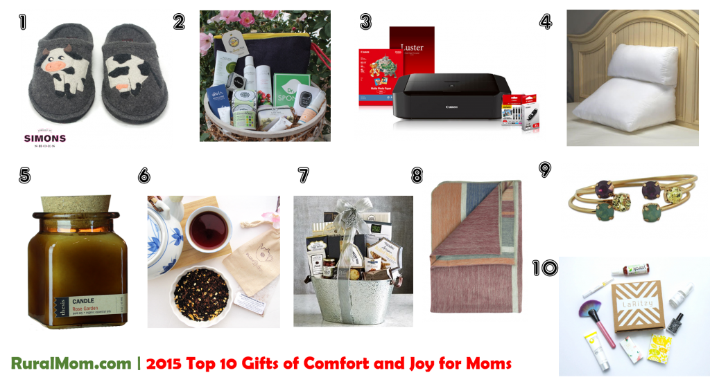 2015 Top 10 Gifts of Comfort and Joy for Moms