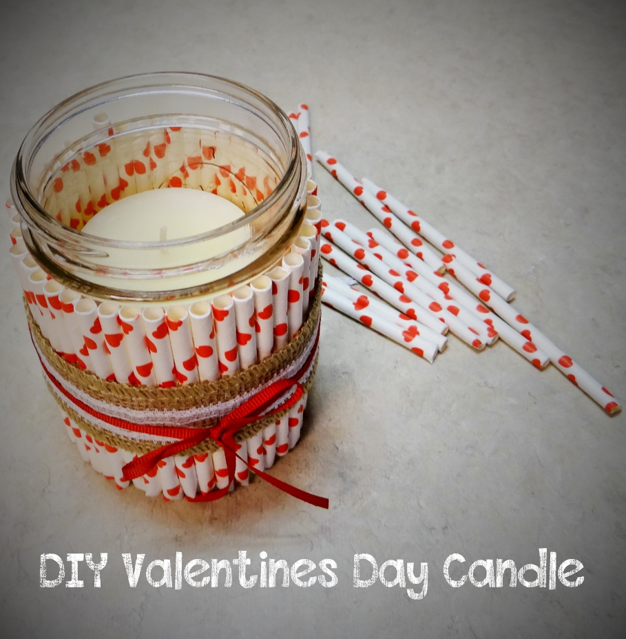 Quick and Easy Valentines Day Mason Jar Candle Holder