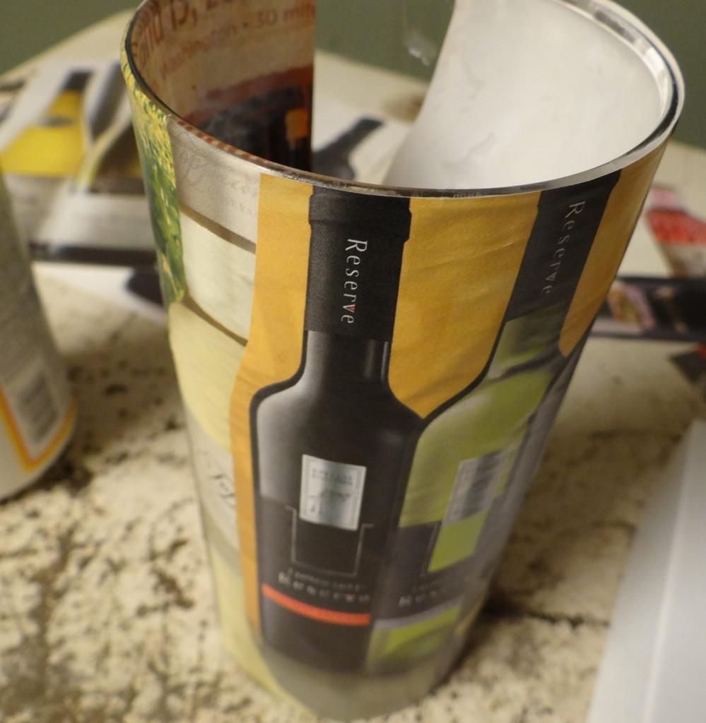 DIY Mod Podge Wine Vase Tutorial