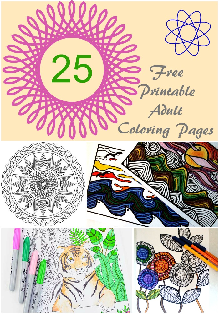25 Resources for Free Adult Coloring Pages