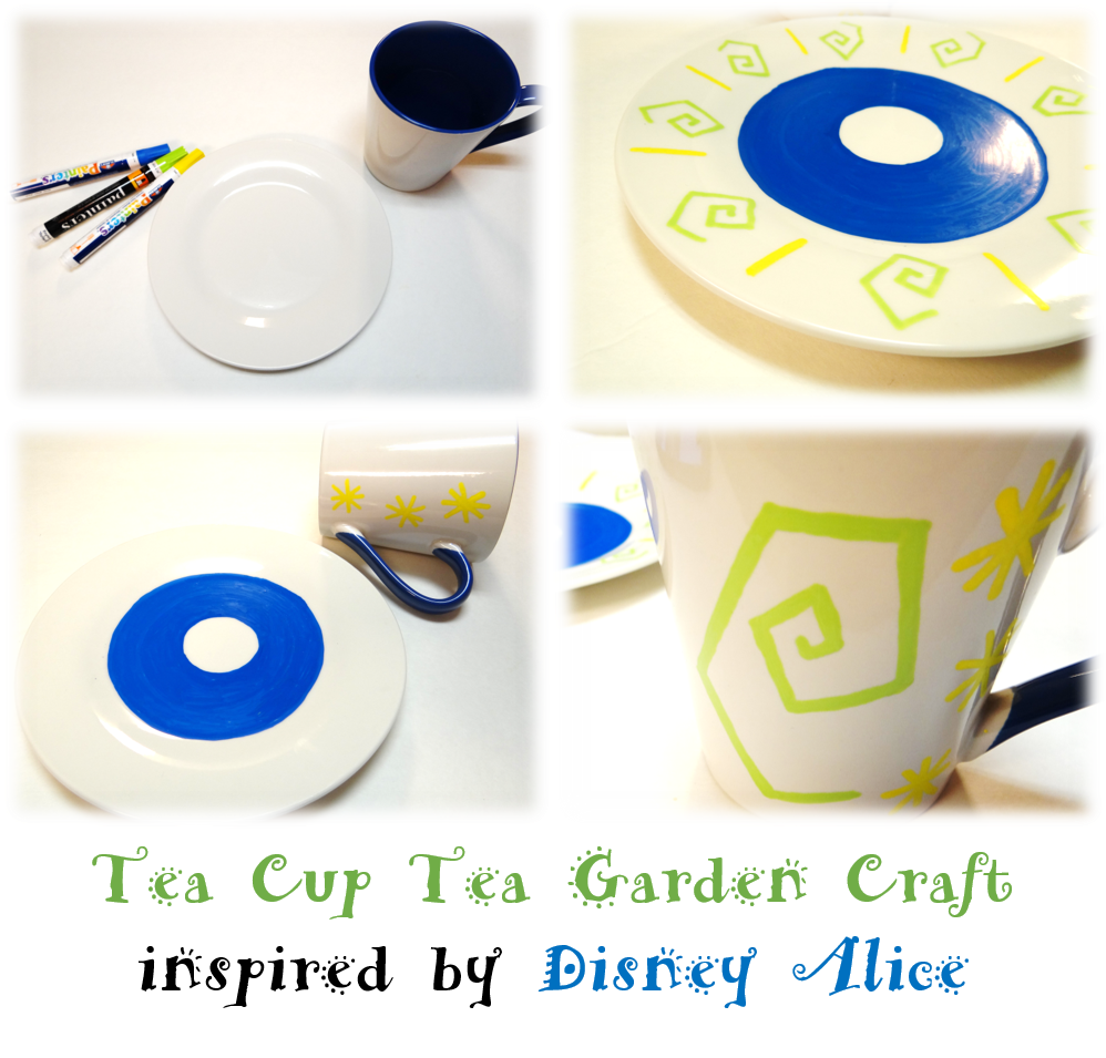 Alice Through The Looking Glass Activity Sheets and Tea Cup Planter Craft