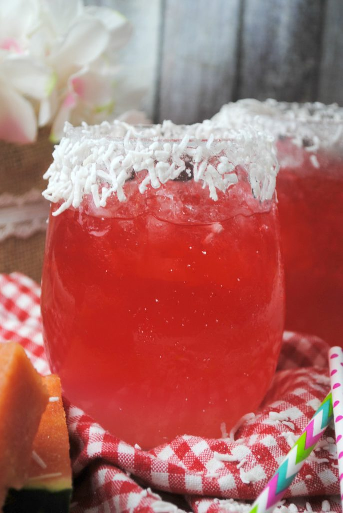 Watermelon Picnic Cooler Cocktail