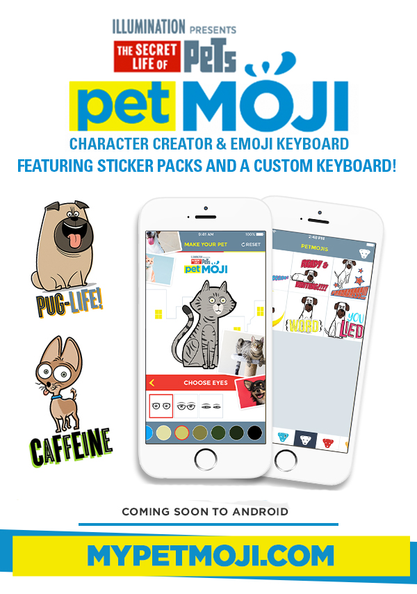 THE SECRET LIFE OF PETS PETMOJI APP
