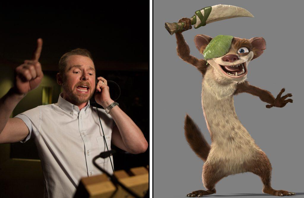 Simon Pegg as the voice of Buck