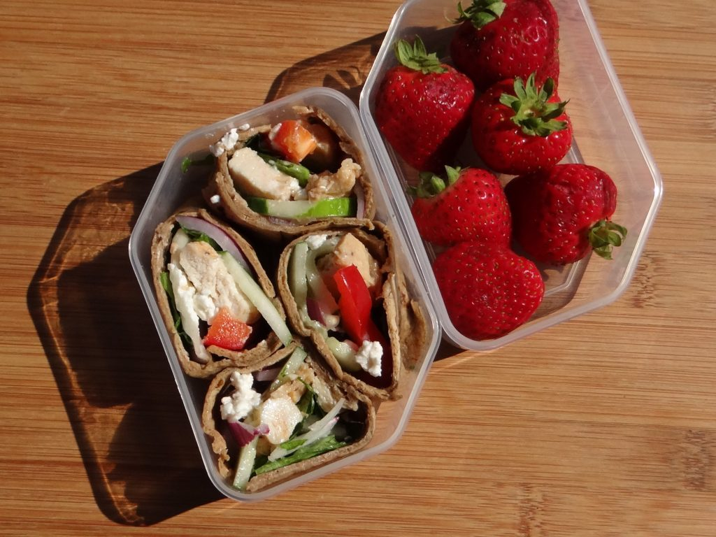 Grilled Chicken and Feta Greek Wrap