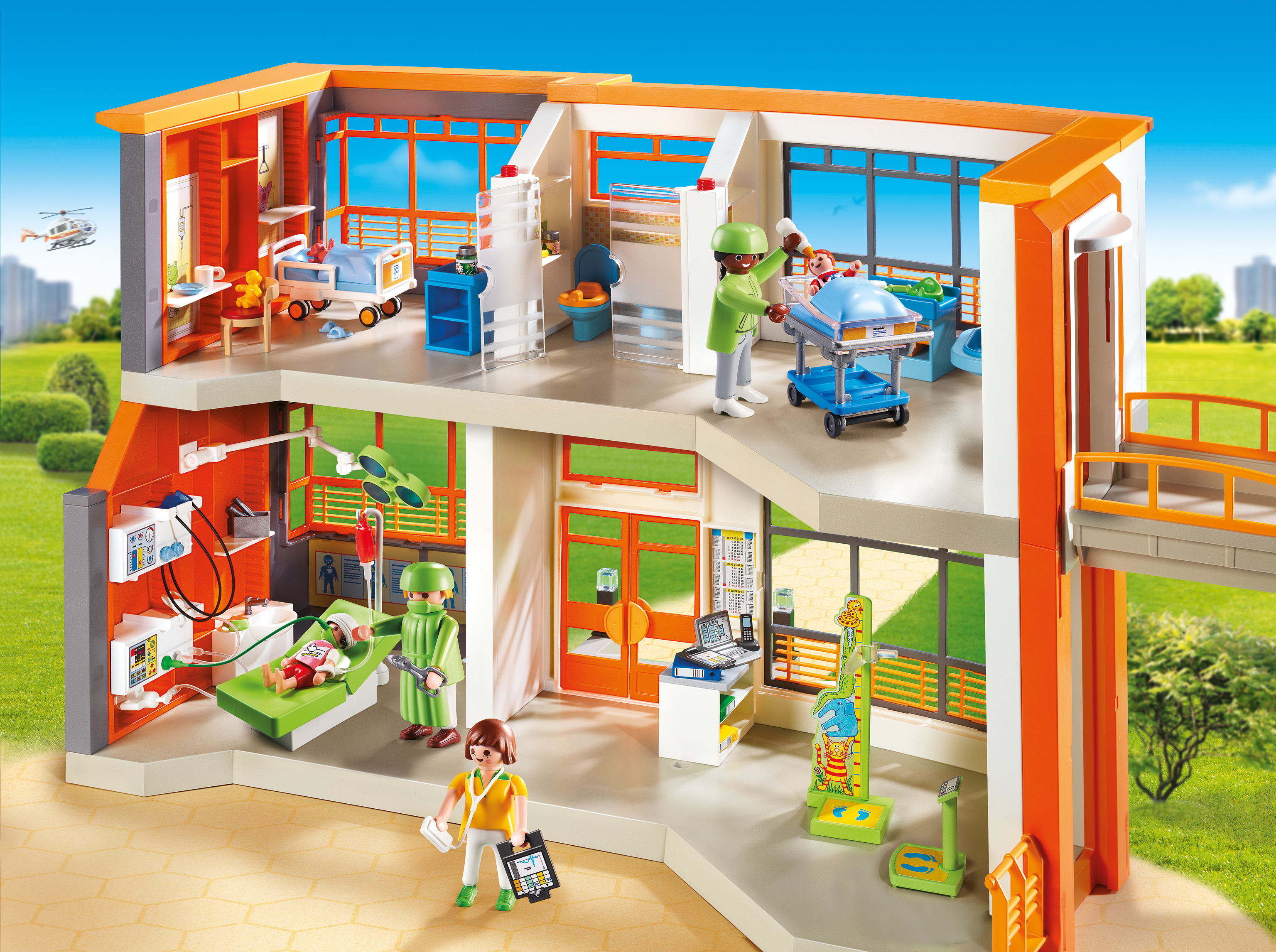 playmobil furnished children s hospital encourages