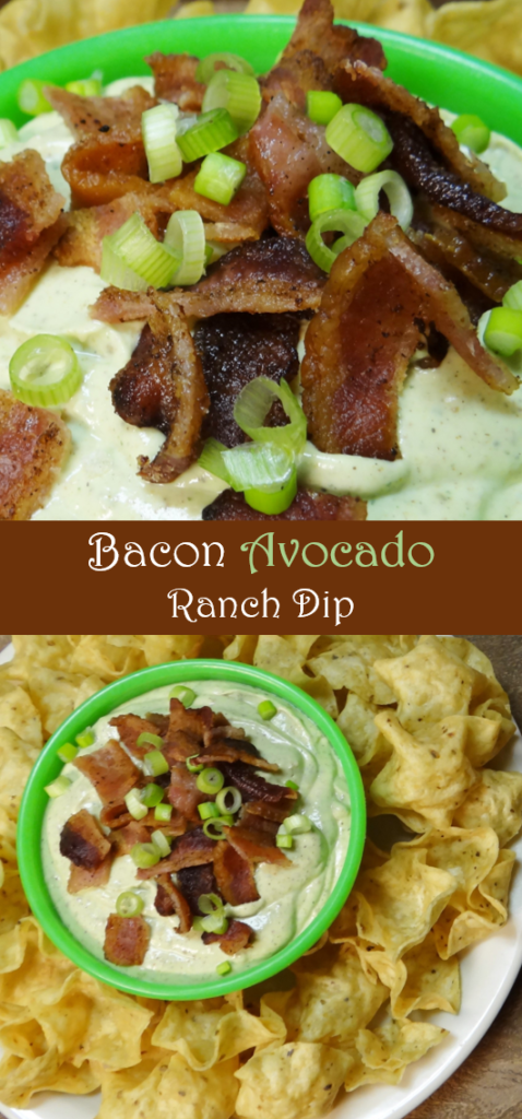 Bacon Avocado Ranch Dip #fanfoodleague #AD