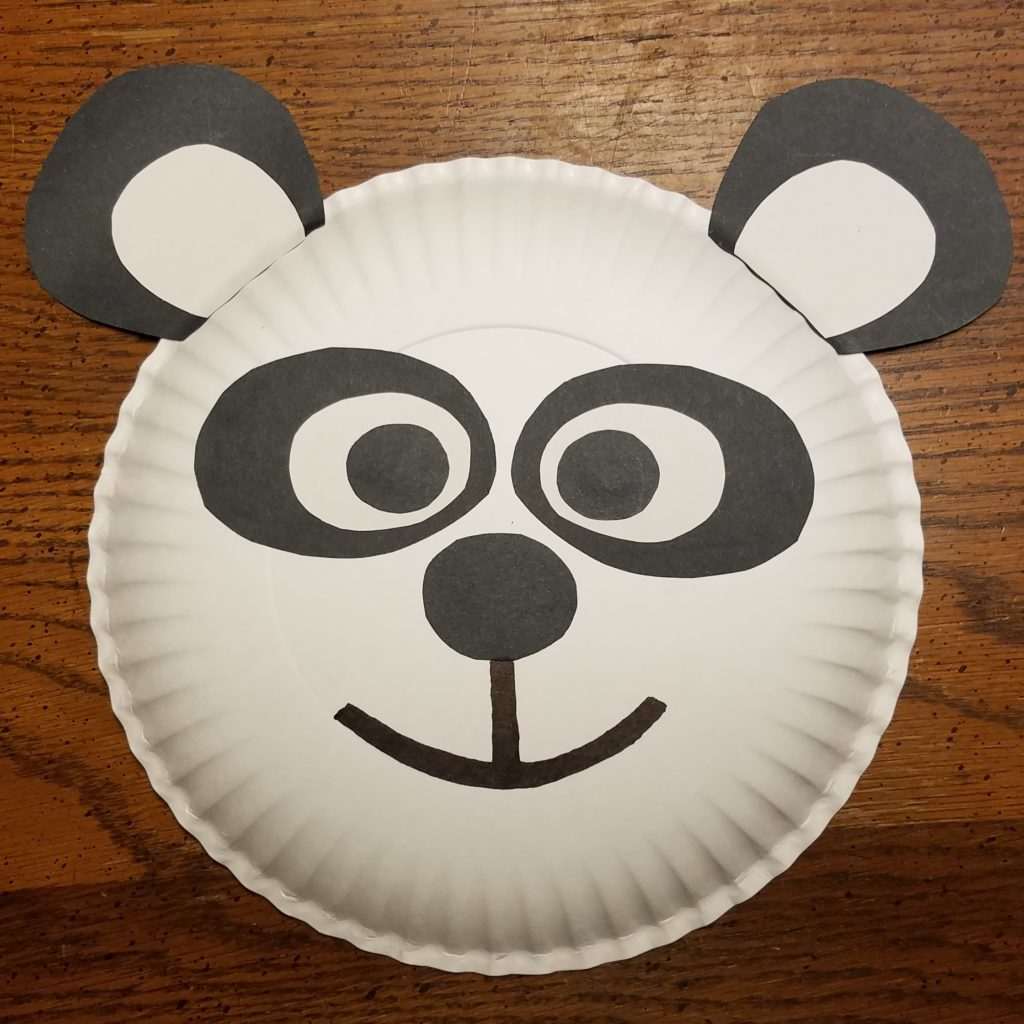 BORN IN CHINA Paper Plate Craft - Giant Panda