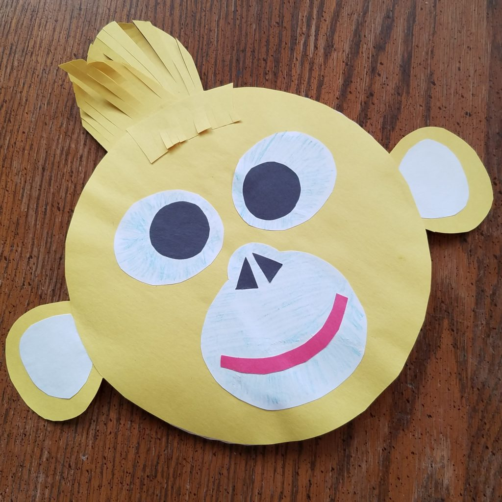 BORN IN CHINA Paper Plate Craft - Golden Monkey
