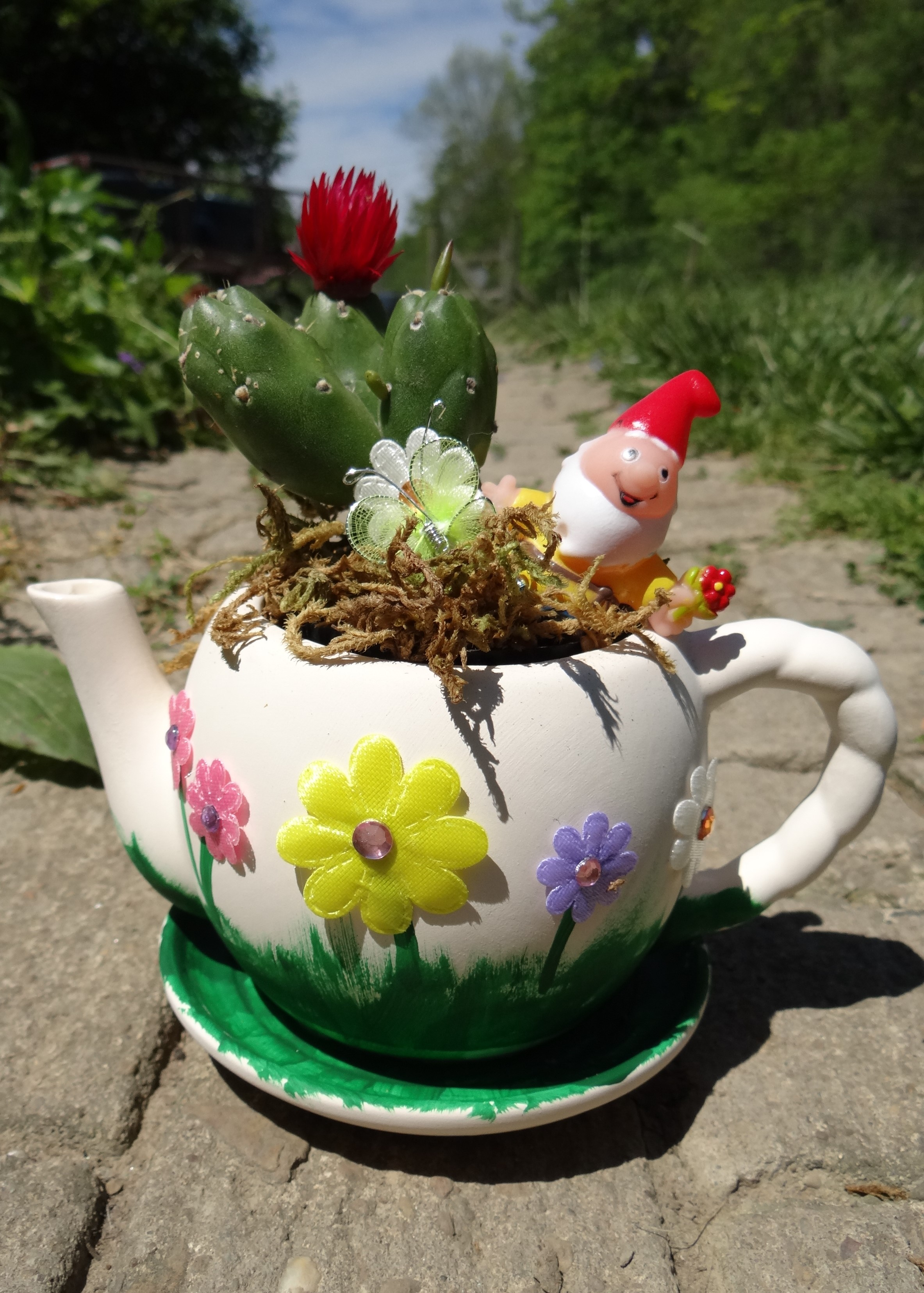 DIY Fairy Garden Tea Pot and Garden Party Ideas Rural Mom