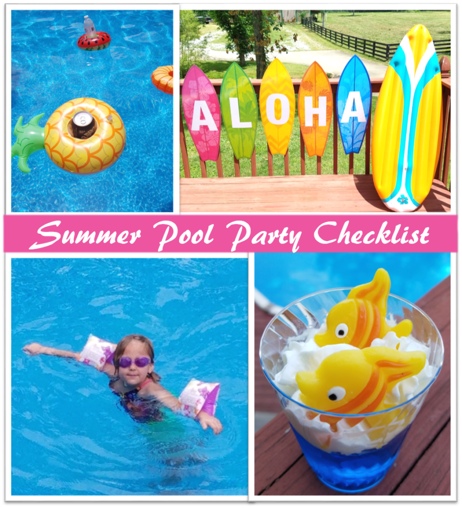 Summer Pool Party Checklist