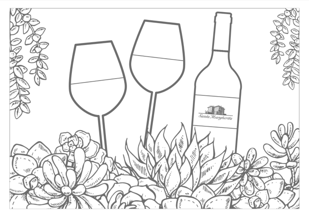 Celebrate National Coloring Book Day With Wine Pages