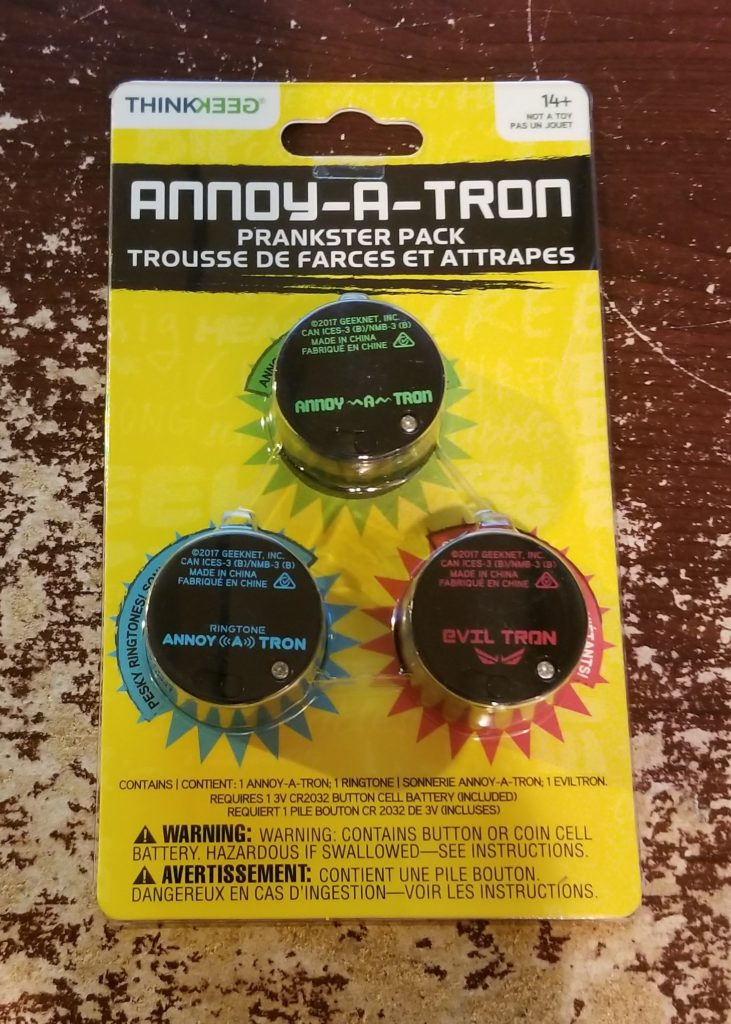 Holiday Fun in the palm of your hand: Annoy-A-Tron Prankster Pack