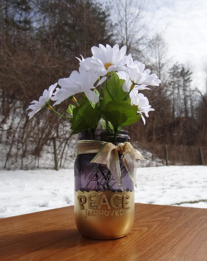 Mason Jar Crafts: Quick and Easy Embossed Letter Jars