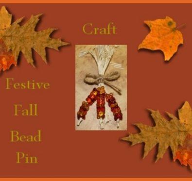 festive fall bead pin craft