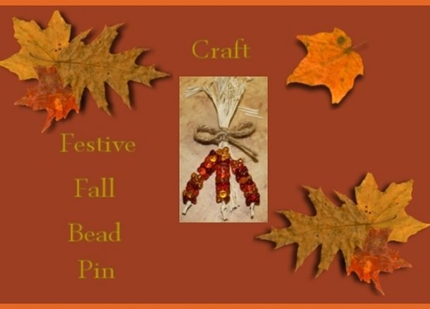 festive fall bead pin craft