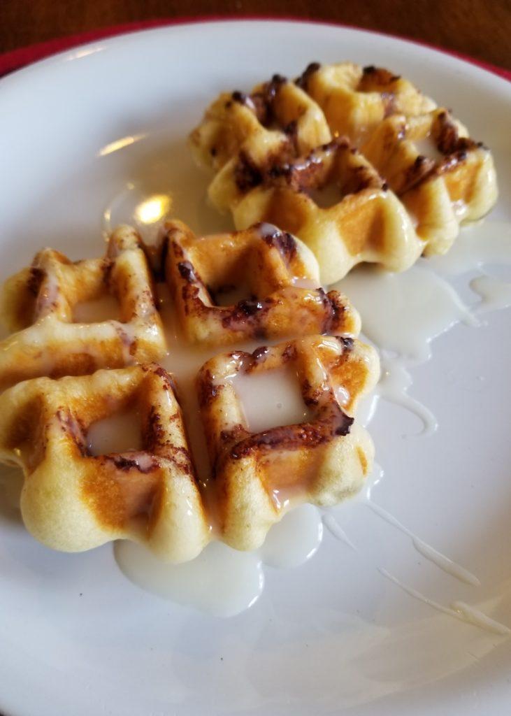 Holiday Mornings and Cinnamon Roll Waffles