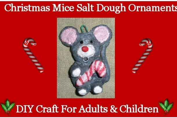 Christmas Mice Salt Dough Ornaments DIY Craft