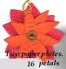 Paper Plate Posies with 16 petals