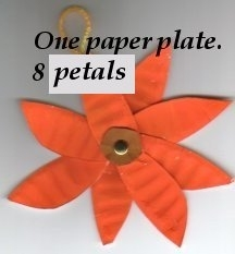 Paper Plate Posies with 8 petals