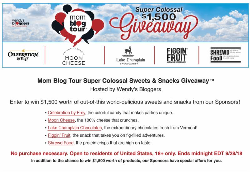 Mom Blog Tour Super Colossal Sweets and Snacks Giveaway