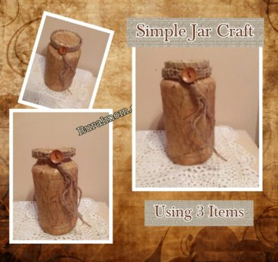 Simple Jar Craft Using 3 Items